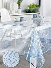 Calitex Tischdecke, transparent, rund, PVC, PVC,
