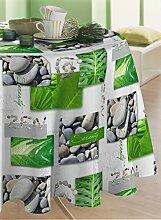 CALITEX Tischdecke, Wachstuch, rund, PVC, grün,