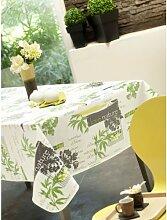 Calitex Tischdecke, Wachstuch, rund, PVC, grün, 180x 180cm