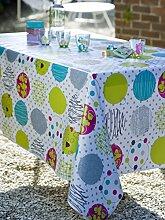 CALITEX Tischdecke, Wachstuch, rund, PVC, mehrfarbig, 140x 140cm