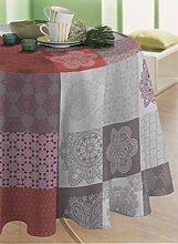 CALITEX Wachs-Tischdecke, Motiv Orientalisch, Rot,
