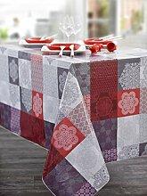 CALITEX Wachs-Tischdecke, Orientalisch, Rot (140 x