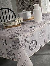 Calitex Willkommen Tischdecke rechteckig Polyester Grau 150x 300cm