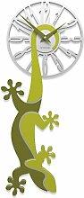 CalleaDesign Gecko Wanduhr Cedargrün