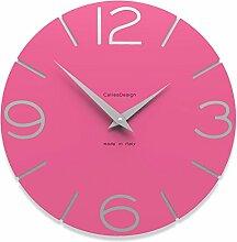 Calleadesign - Wanduhr Smile, Pink