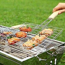 Calli BBQ Werkzeuge Meshes Ordner Fisch Clip gegrilltem Fisch Net Barbecue Grills