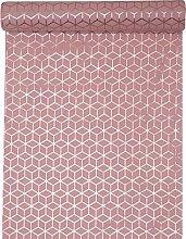 cama24com Tischläufer Rosa Rose mit Kupfer Muster