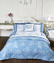 Camargue Vintage Stil, blau einzigen Bettdecke