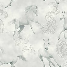 Camarillo Pferd Tapete- grau - Arthouse 667300
