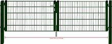 Camas Ben Light Drahtgittertor Einfahrtstor 2030mm grün 3m breit Gartentor Toranlage
