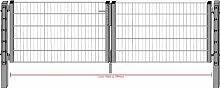 Camas Ben Light Drahtgittertor Einfahrtstor 2030mm verzinkt 3m breit Gartentor Toranlage
