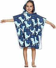 CAMLAKEE Kinder Poncho Handtuch mit Kapuzen,