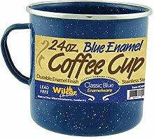 Camp Cup Mug Emaille-Becher mit Edelstahlrand, 680