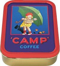 Camp Kaffee Sammeldose / Tabakdose, Motiv: Mädchen mit Regenschirm