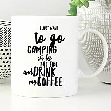 Camp Mug I Just Want To Go Camping Becher Emaille