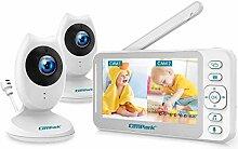 Campark Video-Babyphone mit Kamera und Audio, 10,9