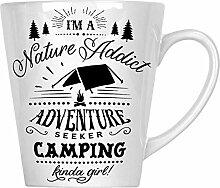 Camping ein bisschen Mädchen 34 cl Latte Tasse