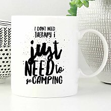 Camping Mug Need to Go Camping Emaille-Tasse