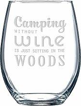 Camping ohne Wein ist einfach in the Woods