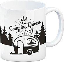 Camping Queen Kaffeebecher mit wunderschönen