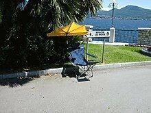 CAMPING - STABIELO RELAX und WELLNESS - FALTSTUHL MIT BEINAUFLAGE - RELAX - Faltstuhl für Personen mit ca. 110 Kilo belastbarer Faltstuhl Outdoor dunkelblau mit grünen Streifen - Vertrieb HOLLY PRODUKTE STABIELO ® INNOVATIONEN MADE in GERMANY - holly-sunshade ® gegen Aufpreis mit holly Fächerschirmen - holly mobiler Sonnenschutz-mobile sunshade holly ® -