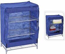 Campingschrank 60x35x80cm 3Ablagen blau Faltschrank Stoffschrank