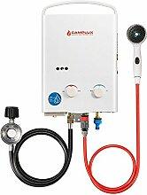 camplux 5L Outdoor tragbare Propan Gas Durchlauferhitzer/Camping Dusche mit 37mbar CE Regulator
