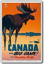 Canada For Big Game Travel Canadian Pacific - Vintage Travel Fridge Magnet - Kühlschrankmagne