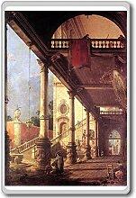 Canaletto - Perspective With A Portico (1765) classic art fridge magnet - Kühlschrankmagne
