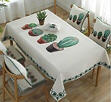 CANBUTIA Pflanze Baumwolle und Leinen Tischdecken