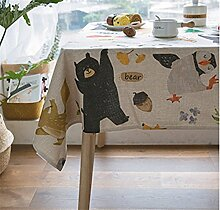CANBUTIA Tischdecke Baumwolle und frische Cartoon