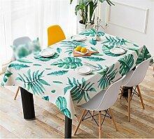CANBUTIA Tischdecke grün Pflanze Baumwolle Leinen