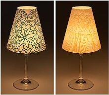 "Candle Lights / Lampenschirme für Weingläser / Deko-Lampenschirme / Lampe / Teelicht / Lampshades / Lampenschirm-Set ""Cara"" Tischdeko, 2-teilig"