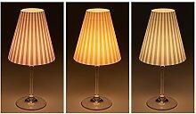 "Candle Lights / Lampenschirme für Weingläser / Deko-Lampenschirme / Lampe / Teelicht / Lampshades / Lampenschirm-Set ""Jaron"" Tischdeko, 3-teilig"