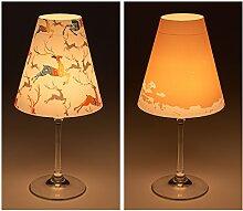 "Candle Lights / Lampenschirme für Weingläser / Deko-Lampenschirme / Lampe / Teelicht / Lampshades / Lampenschirm-Set ""Asa"" Tischdeko, 2-teilig"