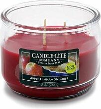 Candle-lite - 3 Docht Duftkerze im Glas, Apple