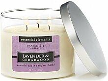 Candle-lite - 3 Docht Duftkerze im Glas, Lavender