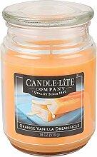 Candle-Lite Duftkerze Orange/Vanille