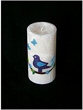 Candle making TAUFE/GEBURTSTAG STEARIN KERZE VOGEL