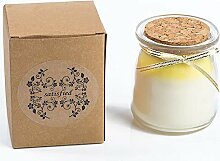 Candle Smokeless Aromatherapy Candles Bicolor Glas