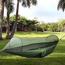candora Hängematte aufhängen Bett mit Moskitonetz–aus fallschirmmaterial/Nylon Hängematte Camping Bett für Outdoor Camping Reise