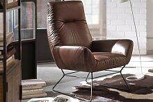 CANDY, Ledersessel Basic, Leder Nature brown,