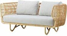 Cane-line - Nest 2-Sitzer Sofa Indoor, natur /