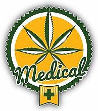Cannabis Medical Badge - Self-Adhesive Sticker Car