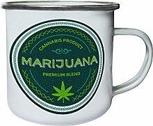 Cannabis Produkt Premium Mischung Retro, Zinn,