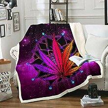 Cannabisblätter Decke Werfen, Marihuana Unkraut