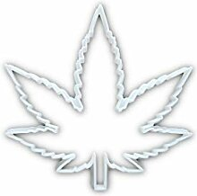 Cannabisblatt Ganja Hanf Pflanze Form Keks