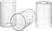 Canomo Klarer Glas-Lampenschirm, Zylinderform,