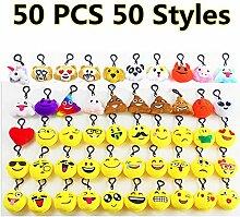 Cansenty 50 Stück Emoji Plüsch Kissen Mini