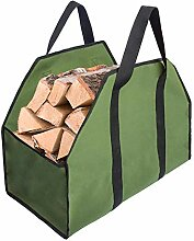 Canvas Log Carrier Tote Bag, Brennholz Carry Bag